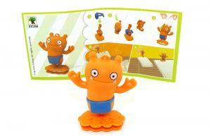 Ugly Dolls Figur VV286 aus dem Kinder Joy Ei von 2021 mit Zettel
