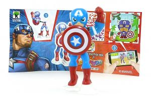 Captain Amerika Figur aus der Serie Marvel Heroes mit Beipackzettel Nummer VV398