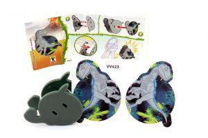 Jurassic World Spielzeug 2021 Kinder Joy. Schlüsselanhänger mit Beipackzettel VV423