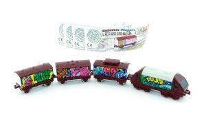 Satz Graffiti Züge mit Beipackzettel (Locks und Züge)