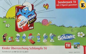 Werbeflyer vom 6er Pack der Schlümpfe 2011