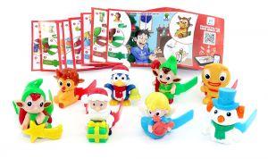 Die Weihnachtsbotschafter. Alle 8 Figuren mit Beipackzettel und Zubehör (Komplettsatz)