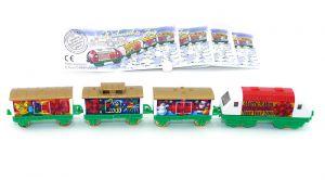 Weihnachtszüge von 1999 mit allen Beipackzetteln (Zugmaschine Mittelstück rot)