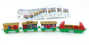 Weihnachtszüge von 1999 mit allen Beipackzetteln (Zugmaschine Mittelstück in weiß)