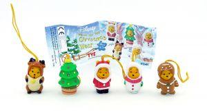 Winnie the Pooh Christmas Figuren mit Beipackezttel [von der Firma Tomy]