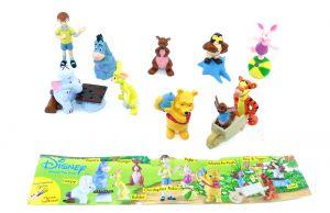 Winnie Pooh Figurensatz mit Beipackzettel [Firma Rübezahl & Koch]