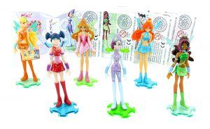 WinX Club Figuren Satz, Tecna, Musa, Bloom, Flora, Layla, Stella