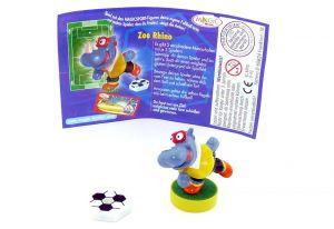 Zee Rhino mit Ball und deutschen Beipackzettel (Magic Sport)