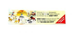 Beipackzettel von König der Löwen (Firma Nestle)