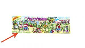 Crazy Crocos, wo die @Ferrero Kennung weiter rechts ist (Beipackzettel)
