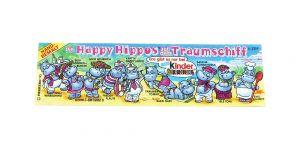 Beipackzettel vom Happy Hippo Traumschiff mit ZDF und kurzer @Ferrero...  Kennung