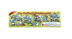 Beipackzettel von den Fußball Schlümpfen in DICKER Ausführung