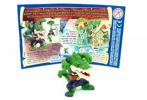 Zorion das Krokodil Monster mit Schatzkarte und Beipackzettel (Monster & Piraten)