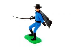 Steckfigur von Zorro mit Degen
