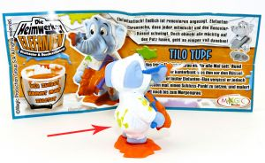 TILO TUPF MIT ZWEI FARBKLECKSEN aus der Srie Heimwerker Elefanten (Ü-Ei Variante)