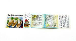 Beipackzettel ZWIEBEL-SCHIFFCHEN von den Küchenzwergen