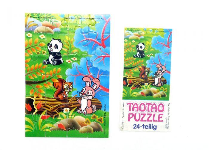 """Tao Tao Puzzle unten rechts mit einem Beipackzettel """"Ü-Ei Rarität"""" (24 Teile Puzzle)"""