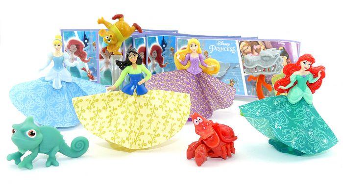 Disney Princess Figurensatz aus Russland 2019 mit blauen Beipackzetteln