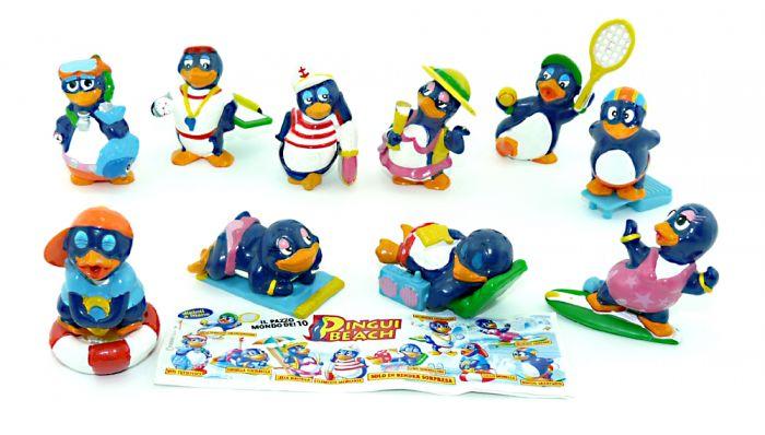 Satz Pingui Beach Figuren aus Italien