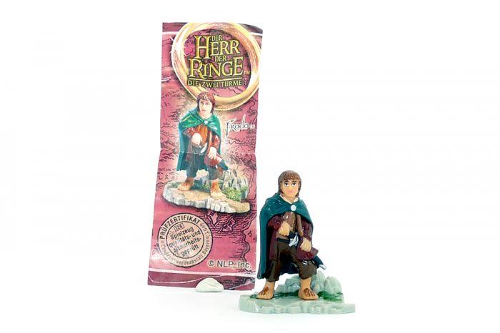 Frodo mit Beipackzettel aus dem Adventskalender (Herr der Ringe 2)