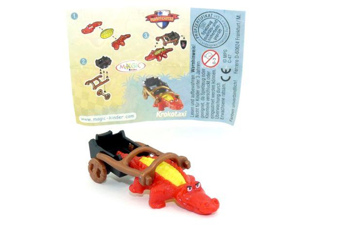 Krokotaxi mit Beipackzettel und Aufkleber