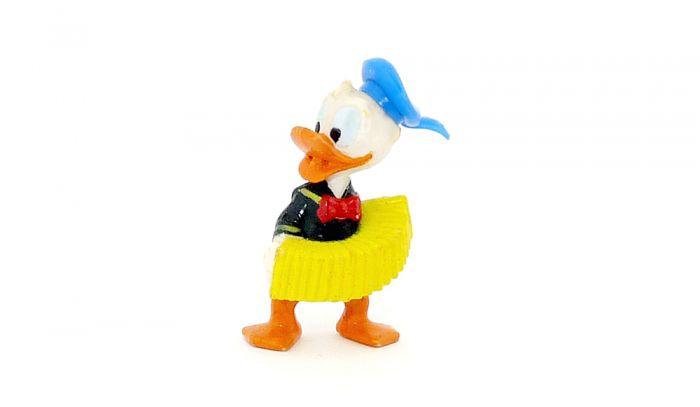 Donald mit Akkordeon und blauer Mütze (Donalds flotte Familie)