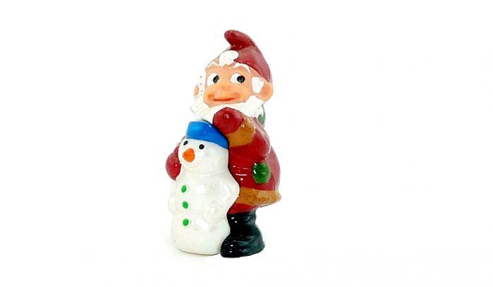 Freddy Frostbeule mit Schneemann (Jahreszeitenzwerge)