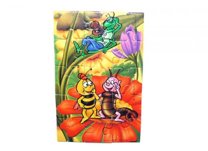 Puzzleecke von Biene Maja mit Flip, Willi und Karlchen (15 Teile Puzzle)