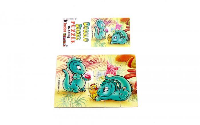 Drolly Dinos Puzzleecke unten links mit Beipackzettel