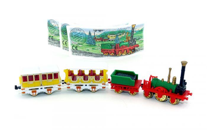 Satz Historische Eisenbahn mit Beipackzetteln (Locks und Züge)