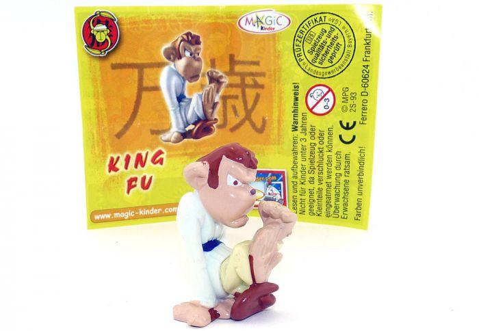 King Fu mit komplett weißen Oberkörper und gelbe Beine - Füße Grundmaterial (Zoff im Affenstall)