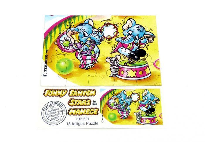 Fanny Fanten Manege Puzzleecke unten links mit Beipackzettel