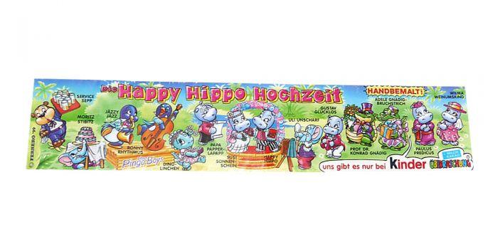 """Beipackzettel von """"Die Happy Hippo Hochzeit"""""""