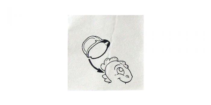 Helm der Dapsy Dinos (Bauanleitung - Bauarbeiter)