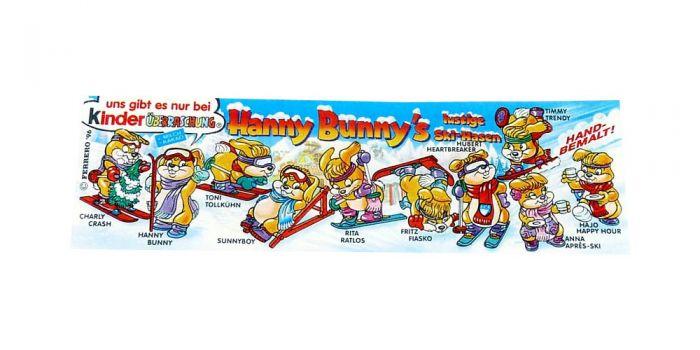 Beipackzettel zur Serie der Hanny Bunnys lustige Ski - Hasen (Beipackzettel)