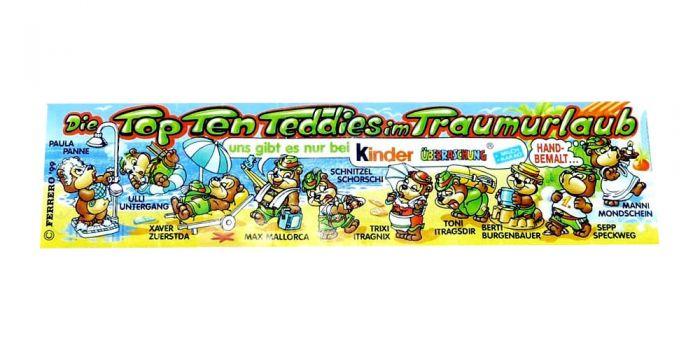 Beipackzettel der Top Ten Teddies im Traumurlaub