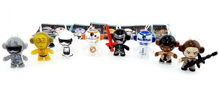 Figurensatz der Star Wars Twistheads aus Russland (Ü-Ei Komplettsatz)