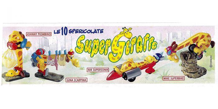 Zettel der Super Giraffe (Beipackzettel aus Europa - Italien)